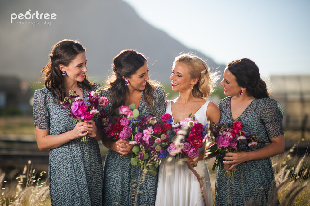ladybloom, bridesmaids, wedding, cape town, western cape weddings, wedding flowers,