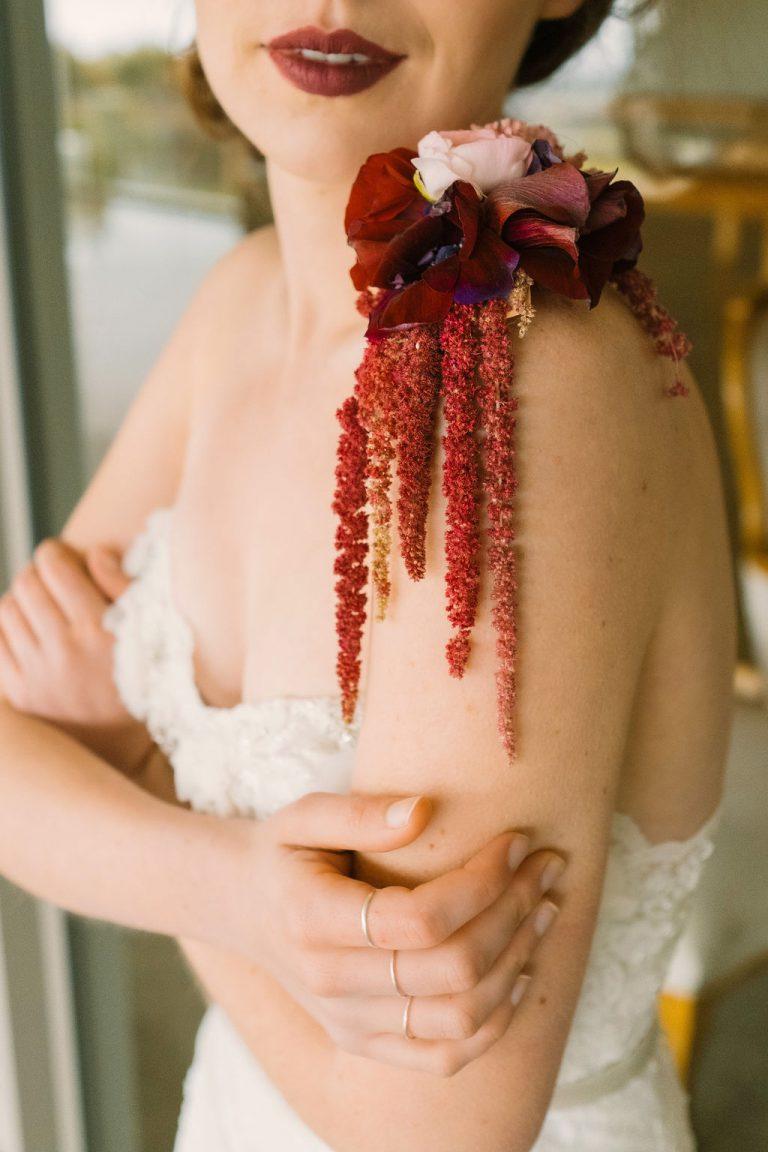 bride, bridal tattoo, western cape weddings, cape town wedding florist
