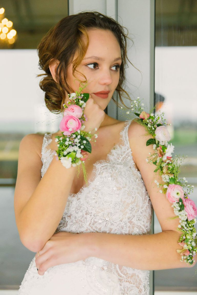 wearables, weddings, western cape, floral wearables, floral tattoos